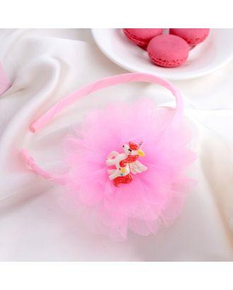 """Ободок для волос """"Единорог"""" 1 см розовый арт. СМЛ-17084-1-СМЛ3974862"""