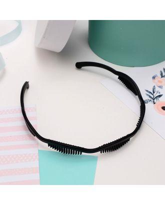 """Ободок для волос """"Гребень"""" 1,2 см, чёрный арт. СМЛ-17102-1-СМЛ3974887"""