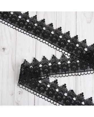 Кружево гипюровое ш.6см, цв. черный арт. СМЛ-29173-1-СМЛ3975158