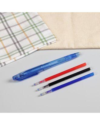 Ручка для ткани термоисчезающая, с набором стержней, цвет белый/розовый/чёрный/синий арт. СМЛ-28047-1-СМЛ3976709