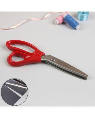Ножницы «Волна», 23 см, шаг - 5 мм арт. СМЛ-23963-3-СМЛ3987831
