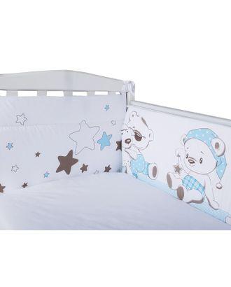 Бортик в кроватку «Умка», размер 40х360 см, цвет голубой, сатин арт. СМЛ-29802-1-СМЛ3988235