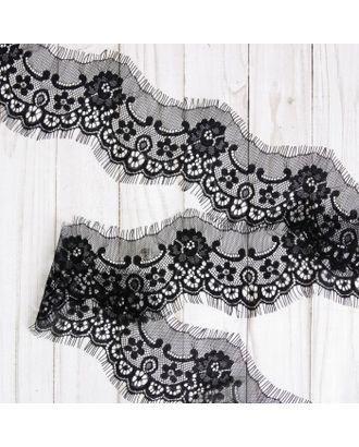 Французское кружево ш.8см, цв. черный арт. СМЛ-29185-1-СМЛ4000051
