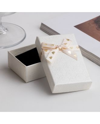 """Коробочка подарочная под набор """"Влюбленность"""", 5*8 (размер полезной части 4,7х7,7см), цвет бежевый арт. СМЛ-17564-1-СМЛ4001657"""