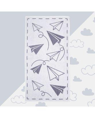 """Полотенце махровое """"Самолеты"""" 70х130 см, 100% хлопок, 420гр/м2 арт. СМЛ-17604-1-СМЛ4002801"""