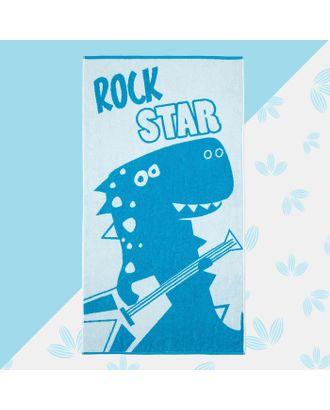 "Полотенце махровое ""Rock star"" 70х130 см, 100% хлопок, 420гр/м2 арт. СМЛ-17610-1-СМЛ4002807"