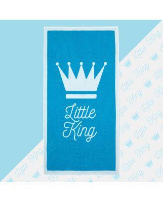 "Полотенце махровое ""Little king"" 70х130 см, 100% хлопок, 420гр/м2 арт. СМЛ-17612-1-СМЛ4002809"