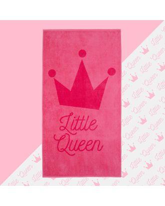 """Полотенце махровое """"Little queen"""" 70х130 см, 100% хлопок, 420гр/м2 арт. СМЛ-17618-1-СМЛ4002815"""