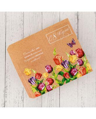Обёртка для шоколада «Весенние тюльпаны», 18.2 x 15.5 см арт. СМЛ-120989-1-СМЛ0004004773