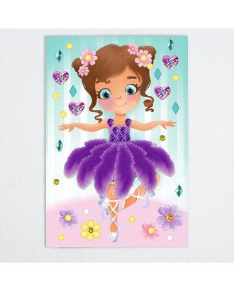 Мозаика перьями и стразами «Маленькая балерина» арт. СМЛ-121050-1-СМЛ0004011848