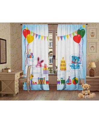 Комплект штор Детские забавы, 147х267 +/- 3см 2шт, габардин, п/э100% арт. СМЛ-17798-1-СМЛ4016854