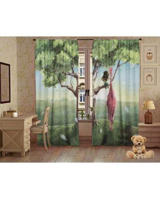 Комплект штор Детские мечты, 147х267 +/- 3см 2шт, габардин, п/э100% арт. СМЛ-17799-1-СМЛ4016855