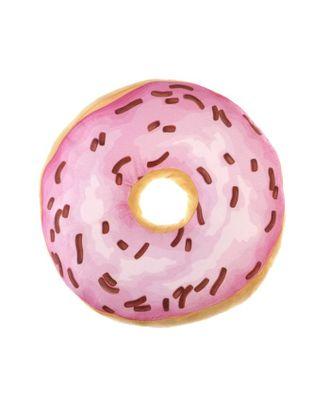 Подушка декоративная Этель «Пончик», цв.розовый, d 36 см, 100% п/э арт. СМЛ-17983-1-СМЛ4021895