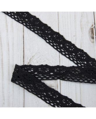 Кружево вязаное ш.2,5см, цв.черный арт. СМЛ-29206-1-СМЛ4026168