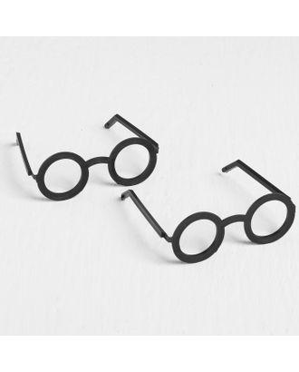 Очки для игрушек, набор 2 шт, размер: 1 шт. 1х23х3 см, цв.черный арт. СМЛ-18145-1-СМЛ4028679