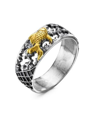 """Кольцо """"Золотая рыбка"""", посеребрение арт. СМЛ-24024-2-СМЛ4035935"""