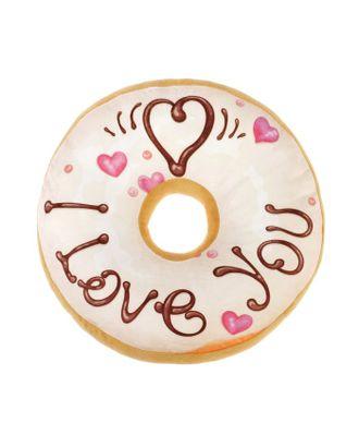 Подушка декоративная Этель «Пончик», цв.белый, d 36 см, 100% п/э арт. СМЛ-18436-1-СМЛ4045400