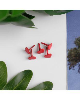 "Брадсы для творчества металл ""Сердечки красные"" набор 30 шт 1,1х0,8х0,8 см арт. СМЛ-18550-1-СМЛ4053710"