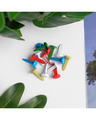 """Брадсы для скрапбукинга """"Цветные"""" набор 40 шт МИКС 1,4х0,7х0,7 см арт. СМЛ-18552-1-СМЛ4053712"""