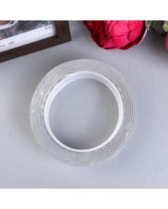 """Клейкая лента силикон клеится на обе стороны """"Прозрачный"""" ширина 3 см, намотка 2 метра арт. СМЛ-18728-1-СМЛ4064169"""