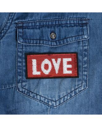 Термоаппликация «LOVE» р.3,3х7 см арт. СМЛ-18900-1-СМЛ4072559