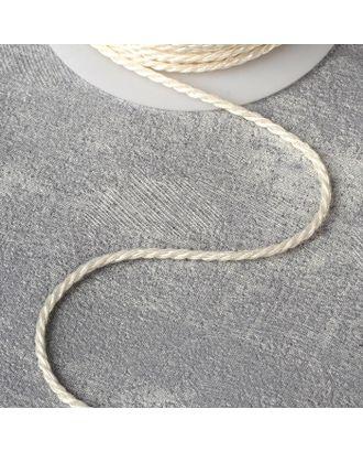 Нить для плетения d = 2 мм, 25 ± 1 м, цвет серебряный №19 арт. СМЛ-23262-4-СМЛ4108875