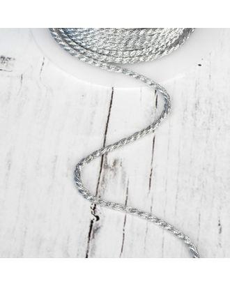 Нить для плетения, d = 3 мм, 15 ± 1 м, цвет серебряный №19 арт. СМЛ-24465-1-СМЛ4108877