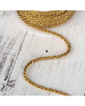 Нить для плетения, d = 4 мм, 15 ± 1 м, цвет золотой №23 арт. СМЛ-24466-1-СМЛ4108880