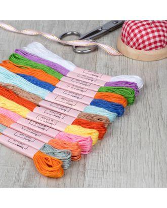 Набор ниток мулине, №17, 8 ± 1 м, 12 шт, цвет разноцветный арт. СМЛ-26908-1-СМЛ4113471