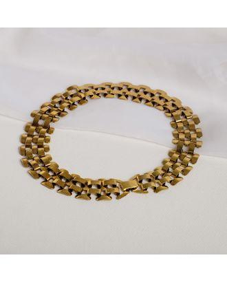"""Колье металл """"Уголь"""" плетение, цвет чернёное золото, L=43 арт. СМЛ-27047-1-СМЛ4126902"""