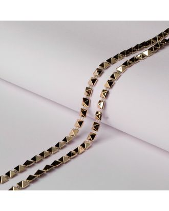 Тесьма металлизированная «Квадрат», 5 × 5 мм, 5,5 ± 0,5 м, цвет серебряный арт. СМЛ-29312-2-СМЛ4141765