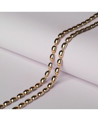 Тесьма металлизированная «Прямоугольник», 8 × 5 мм, 5,5 ± 0,5 м, цвет серебряный арт. СМЛ-29311-2-СМЛ4141767