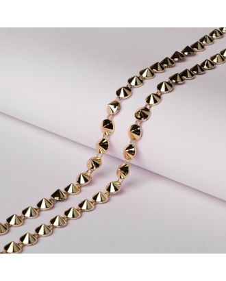 Тесьма металлизированная «Круг», 8 × 8 мм, 5,5 ± 0,5 м, цвет серебряный арт. СМЛ-29310-2-СМЛ4141769