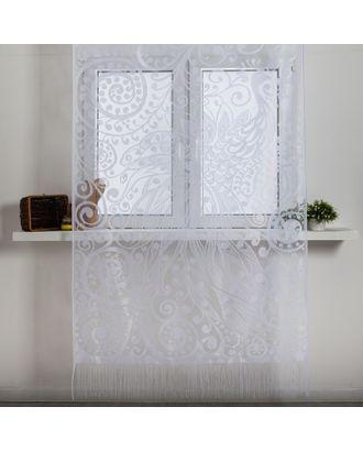 Занавеска для кухни без шторной ленты 230х130 см, пэ 100% арт. СМЛ-31353-1-СМЛ4141779