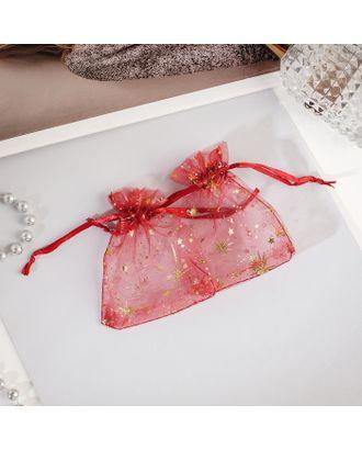 """Мешочек подарочный """"Вспышки"""" 7*9, цвет пыльно-розовый с золотом арт. СМЛ-27265-1-СМЛ4147835"""