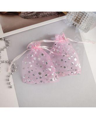 """Мешочек подарочный """"Пузырьки"""" 10*12, цвет розовый с серебром арт. СМЛ-27283-1-СМЛ4147853"""