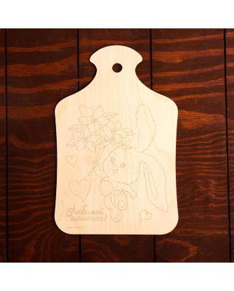 """Доска для выжигания """"Заяц с букетом"""" арт. СМЛ-27349-1-СМЛ4152992"""