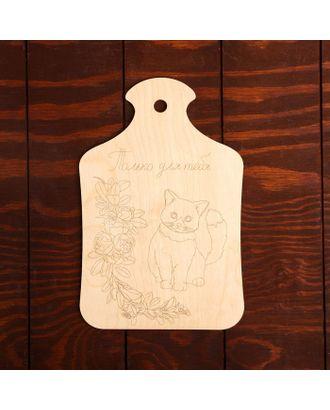 """Доска для выжигания """"Кот с букетом"""" арт. СМЛ-27351-1-СМЛ4152994"""