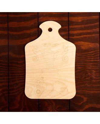 """Доска для выжигания """"Самовар с матрешкой"""" арт. СМЛ-27352-1-СМЛ4152995"""