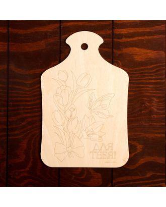 """Доска для выжигания """"Тюльпаны с бабочкой"""" арт. СМЛ-27353-1-СМЛ4152996"""