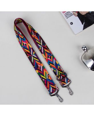 Ручка для сумки, стропа, 140 × 4 см, разноцветная арт. СМЛ-29675-1-СМЛ4163409