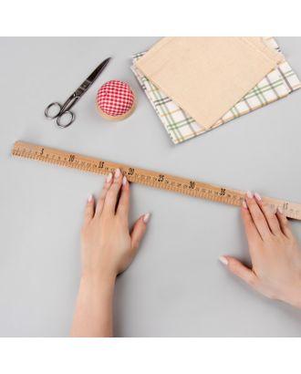 Метр деревянный, 100 см (см/дюймы) арт. СМЛ-28223-1-СМЛ4171970