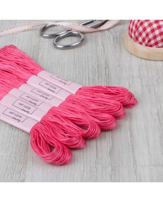 Нитки мулине №956, 8 ± 1 м, цвет ярко-розовый арт. СМЛ-28346-1-СМЛ4177365