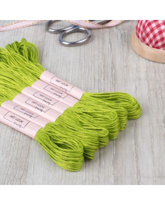 Нитки мулине №907, 8 ± 1 м, цвет травяной арт. СМЛ-28354-1-СМЛ4177373
