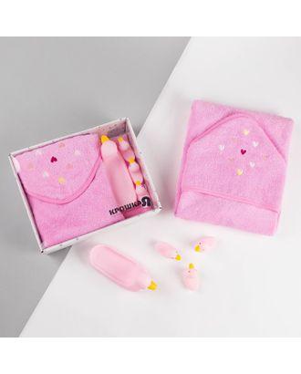 """Набор """"Star girl"""" махровое полотенце 75*75 см, набор резиновых игрушек арт. СМЛ-34037-1-СМЛ4182626"""
