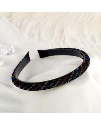 """Ободок для волос """"Вирджиния"""" 1 см, полосы блеск, микс арт. СМЛ-28463-1-СМЛ4184875"""