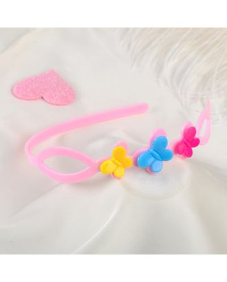 """Ободок для волос """"Весёлый день"""" 2,4 см бабочки, микс арт. СМЛ-28482-1-СМЛ4184894"""