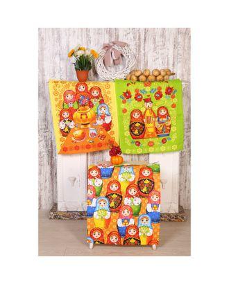 Полотенце вафельное Матрешка 45х60 см (пакет), МИКС, хлопок 100%, 170г/м2 арт. СМЛ-28610-1-СМЛ4187769