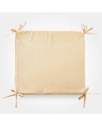 Сидушка на стул бамбук золото 34х34х1,5см, жаккард, поролон, пэ100% арт. СМЛ-32499-1-СМЛ4187878
