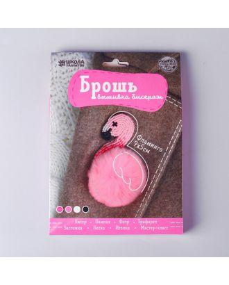 """Вышивка бисером """"Брошь"""", Розовый фламинго арт. СМЛ-30915-1-СМЛ4219224"""